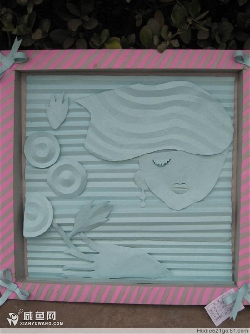 作品 装饰画/简易的纸浮雕